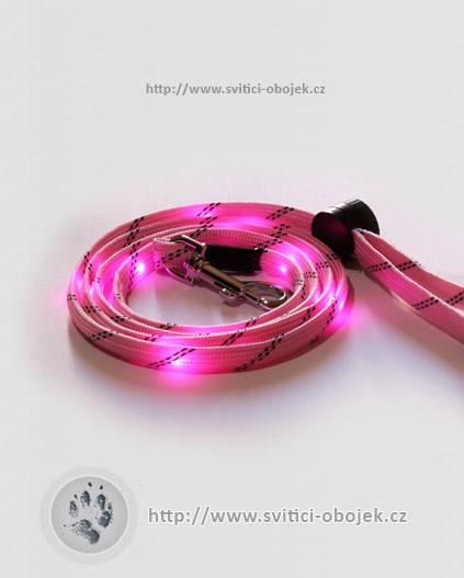 Svítící vodítko pevné - Růžové