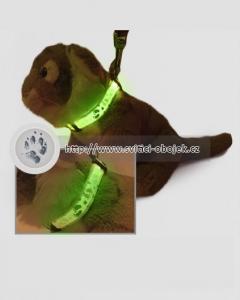 Svítící obojek pro menší psy - šlápoty